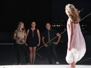 News_Scouted_reality series_Dani, Beri and Michael observe a shoot