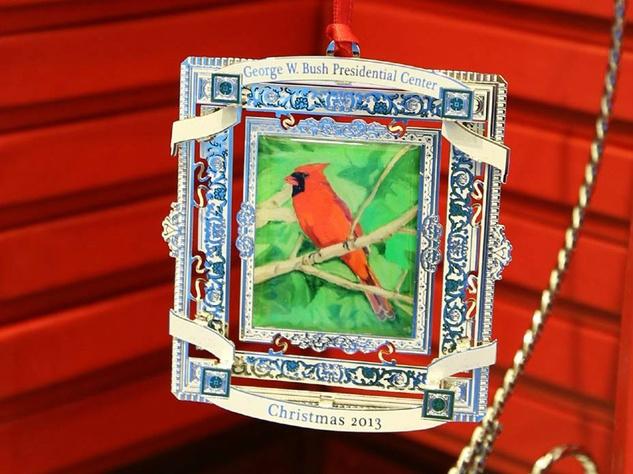 George W. Bush holiday ornament 2013