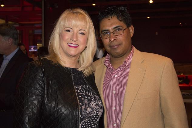 Melanie Bragg and Gavino Zarate at Churrascos' grand opening event February 2014