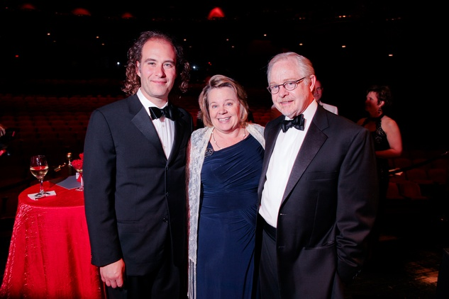 15 Antoine Plante, from left, Julia Little and Blake Eskew at the Mercury Baroque Gala March 2014