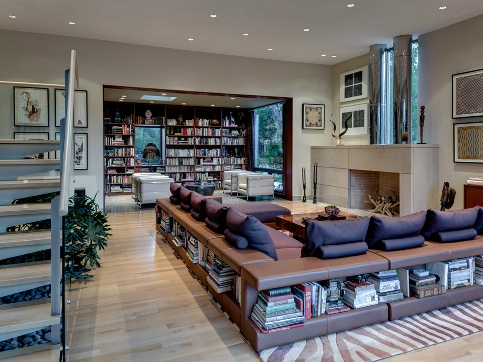 lindenwood living library, dallas homes tour