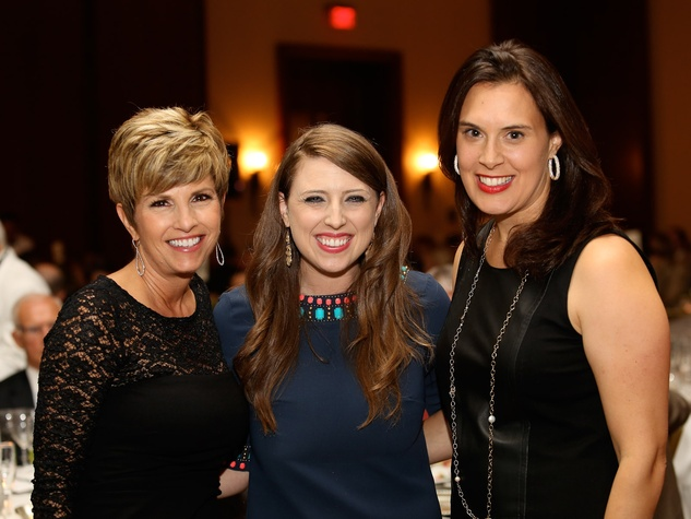 Sue Baumgarten, from left, Meredith Phillips and Laura Wheless at the LifeHouse fundraiser October 2013