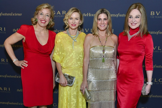 37 Veronica Bulgari, from left, Naomi Watts, Greggory Burke and Becca Cason Thrash at the Bulgari exhibition dinner May 2014