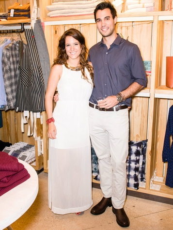 Andrea Bernad, Javier Devesa at Steven Alan store opening in Dallas