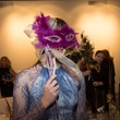11 Model with David Peck mask at the Houston Ballet kick-of party October 2014