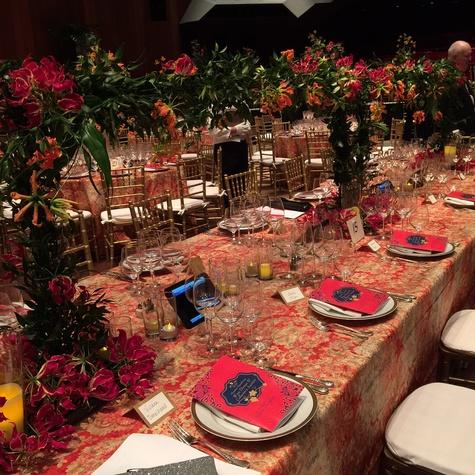Symphony Wine Dinner, April 2016, decor
