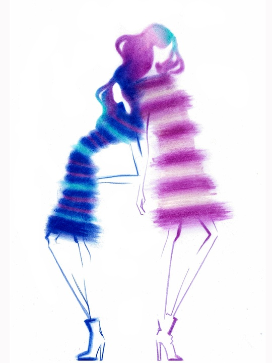 Designers' sketches fall 2014 collections Son Jung Wan