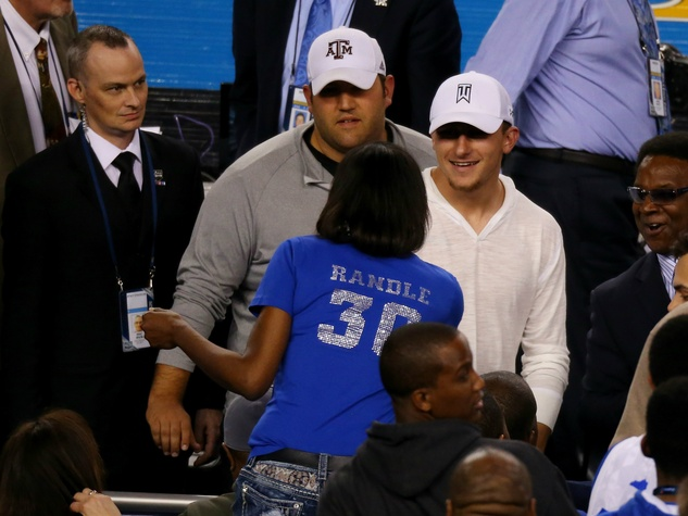 Johnny Manziel at Final Four