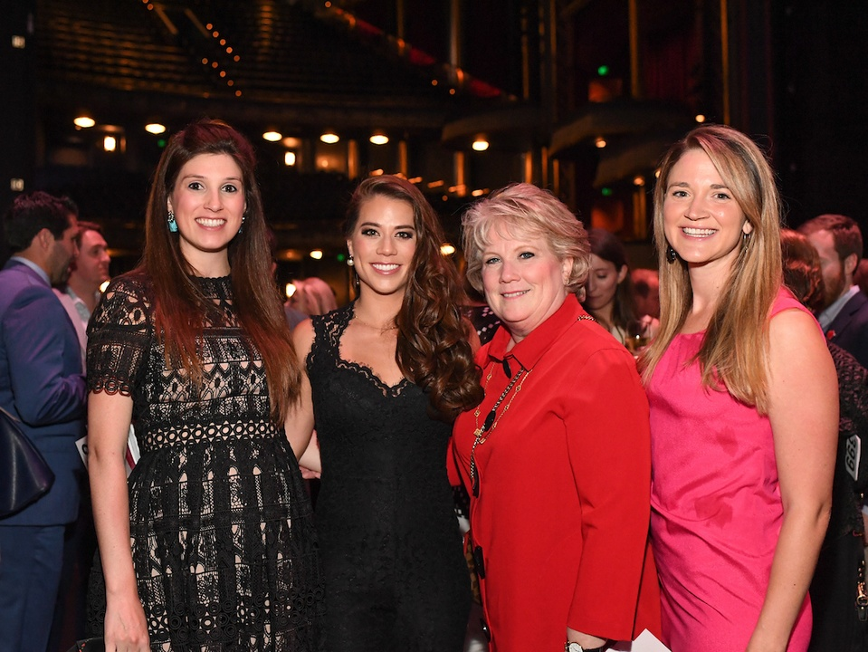 Houston, Casa de Esperanza Building Hope for Children Gala, April 2017, Camille Connelly, Elizabeth Douglass, Regina Lewis, Courtney Orsak