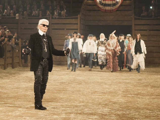 Karl Lagerfeld at Chanel Metiers d'Art in Dallas