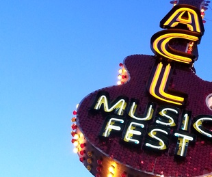 Austin City Limits ACL Music Festival sign 2015