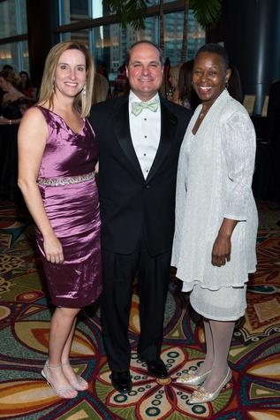 2 Lisa and John Sarvadi, left, and Ronda Robinson at the Covenant House Gala March 2015