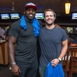 Chester Pitts bowling event Whitney Mercilus, Jeff Tarpinian