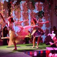 16 Frame Dancers Jacquelyne Jay Boe, left, and Danielle Gonzaba at the DiverseWorks Fashion Fete November 2014