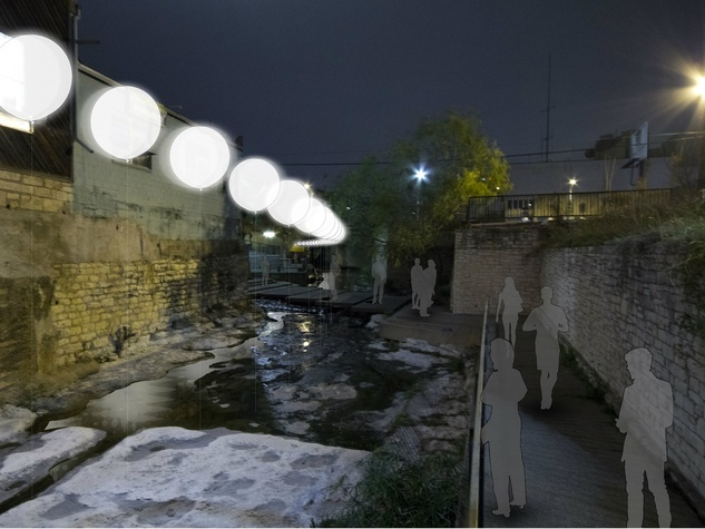Burton Baldridge Architects' proposal for Creek Show