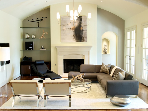 Marie Flanigan interior design ideas January 2015 Midcentry Modern and Black