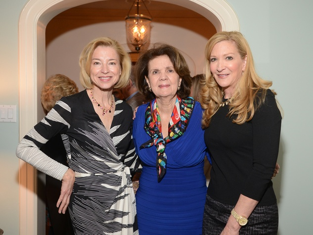 Meredith Cocke, from left, Melinda Rose and Carol Rowley at the JDRF gala kick-off party January 2014