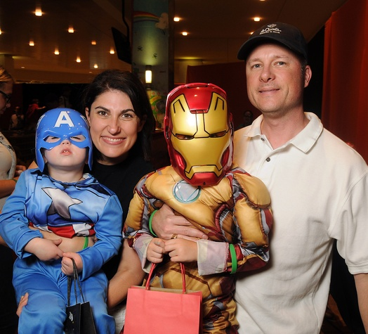 21 Stephanie and Keith Young with Austin and Ryan at the M.D. Anderson Kids Halloween October 2014