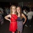 Mereidith Jeffrey, left, and Elaine Lamb at the MFAH Mixed Media Party June 2014