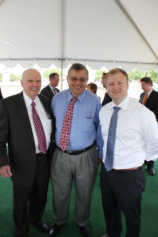 Momentum Audi Groundbreaking, Fred Goree, Mohammed Oshiba, Steven Craney, June 2012