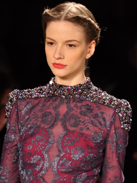Fashion Week fall 2013, Carolina Herrera, embroidery detail