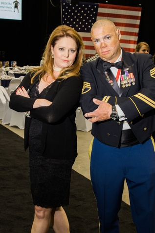 Houston, Impact A Hero Hall of Fame Gala, May 2016, Christine Dobbyn, Army Staff Sergeant, Shilo Harris