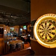 interior of Black Sheep Lodge with dartboard