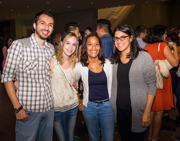 9 Bryan Moreno, from left, Simone Powell, Kaitlyn Hartmann and Christine Casas at the MFAH Art Crowd party September 2014