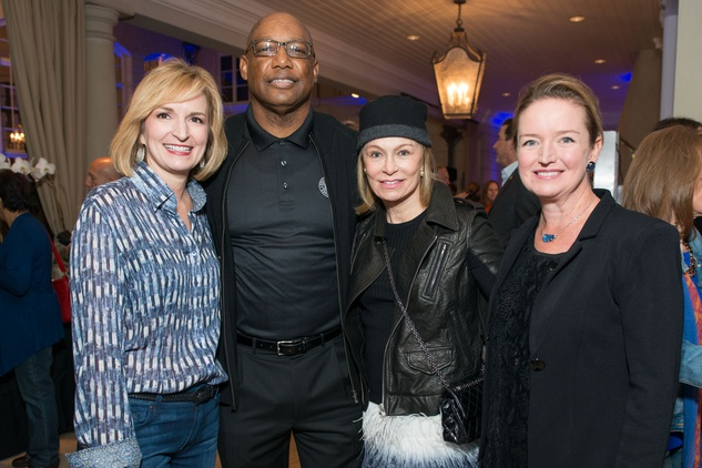 Devon Anderson, from left, Charles McClelland, Maurine Ford and Katherine Cabaniss at the True Blue Gala November 2014