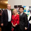 Ted and Dayna Erck, from left, with Jeff Lin at the Houston Tennis Association Gala February 2014
