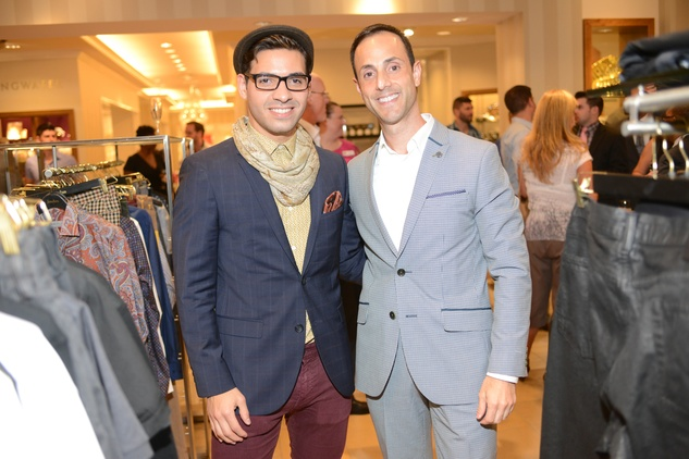 25 Sergio Velasquez-Terjesen, left, and David Virgilio at the Neiman Marcus Men's Fall Trend Event September 2014
