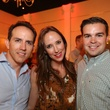 2746 Alejandro Armijos, from left, Ronel Golden and Owen Davies at the Crimson grand opening party July 2014