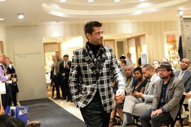 22 Model at the Neiman Marcus Men's Fall Trend Event September 2014