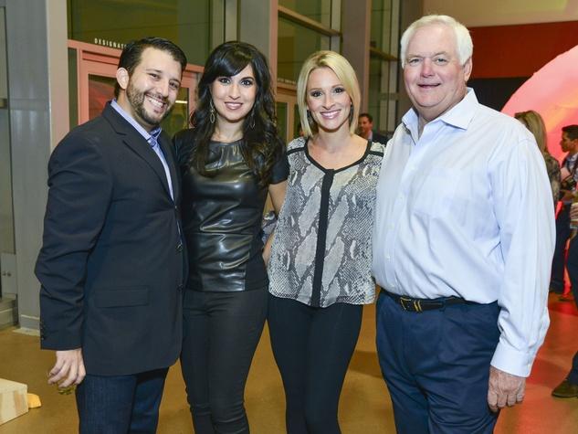4 Robert and Alexandra Ochoa, from left, Tiffany Martin and Wade Phillips at the DePelchin Friday Night Lights Gala November 2013