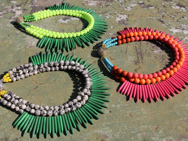 Whitney's Noble House Jewelry, spike necklaces