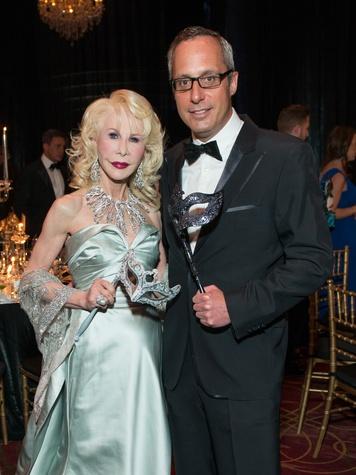 1 Diane Lokey Farb and Mark Sullivan Masks at the Houston Ballet Ball February 2015