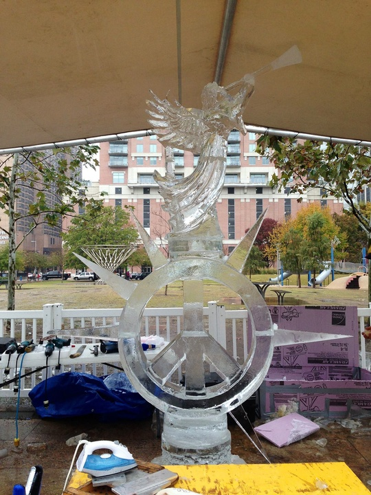 6, Discovery Green, ice carving contest, January 2013, Aaron Costic of Broadview Heights, Ohio