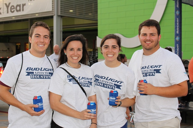 News, Shelby, Silver Eagle Distributors at Food Bank, July 2015 , Josh Stern, Emily Glassell, Rachel Weir, Trent Hollis