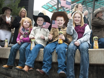 News_021_RodeoHouston parade_February 2012_Ava Smith_Bo Smith_Luke Smith_Audrey Smith (Dad is Rodeo Director Robbie Smith).jpg