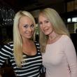 27 Victoria Brink, left, and Cynthia Sinatra at the Holly Rose Ribbon Shades of Roses kick off party July 2014