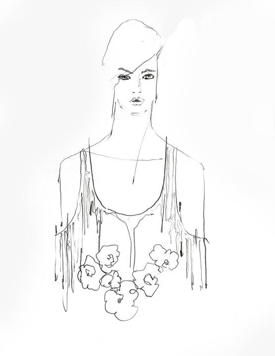 Wes Gordon inspiration sketch New York Fashion Week spring 2016