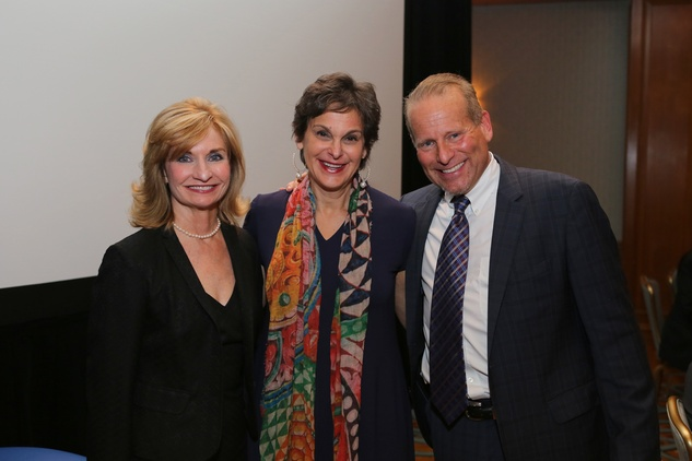 Marianne Mallia, from left, Mimi Swartz and Dr. Billy Cohn at the Bud Frazier event May 2014 at the Bud Frazier event May 2014