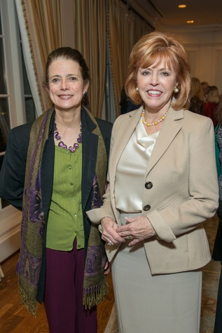 Peggy Smith, left, and Bette Thomas at the Bill Hobby Roast January 2015