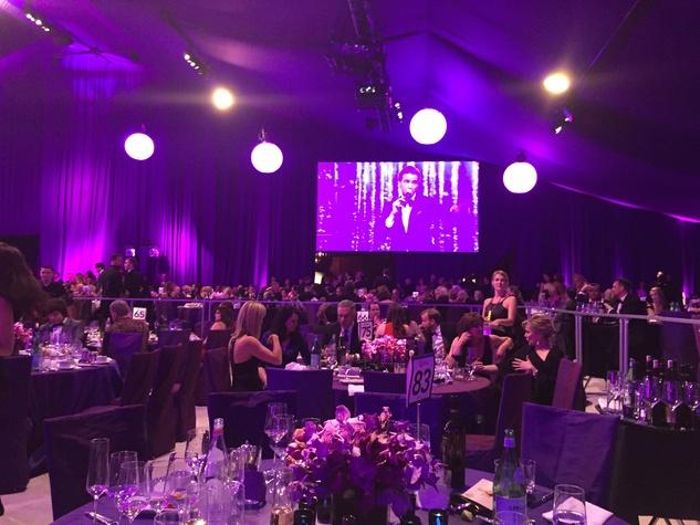 News, Shelby, Oscar parties, Feb. 2015, ballroom at Elton John party
