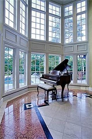 Music room at 9823 Preston Rd. in Dallas