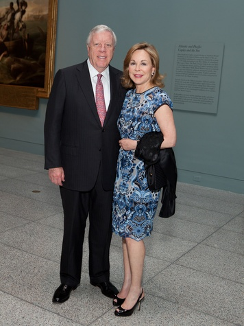 1 Rich and Nancy Kinder at the MFAH opening reception for American Adversaries October 2013