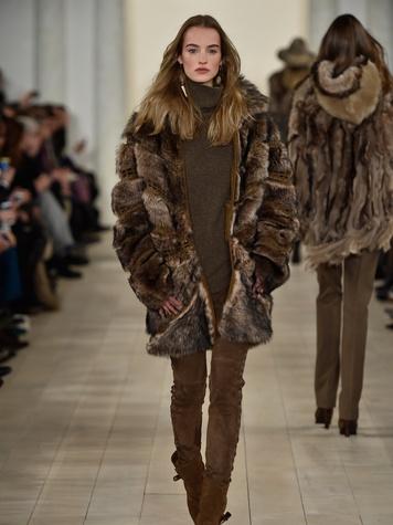 Clifford Fashion Week New York fall 2015 Ralph Lauren February 2015 Look 17