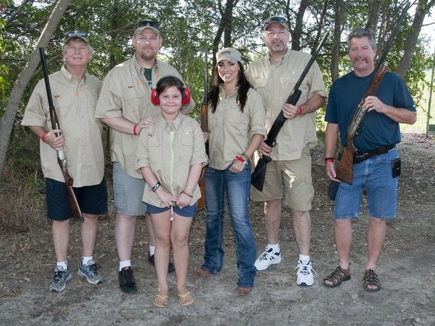 David Hough, Josh Hough, Emily Hough, Kaci Riggs, Darren Rozell, David Stimson, clay shooting