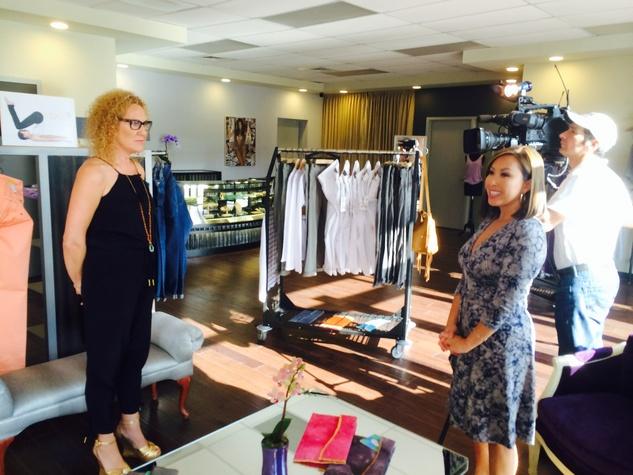 Wardrobe boutique KHOU CultureMap Moment Claire Carmichael-Grant and Lily Jang