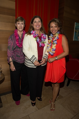 10 Sharon Erskine, from left, Judy Waters and Clemencia Larimore at the Flock and Flamingle event September 2014